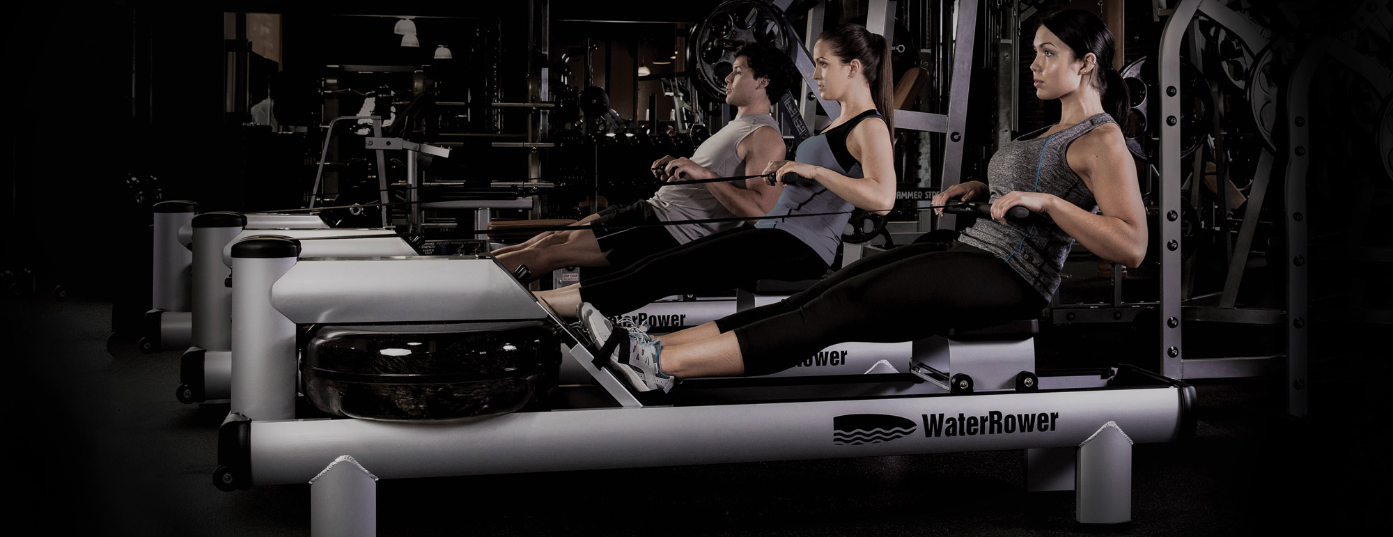waterrower in the gym group fitness classes